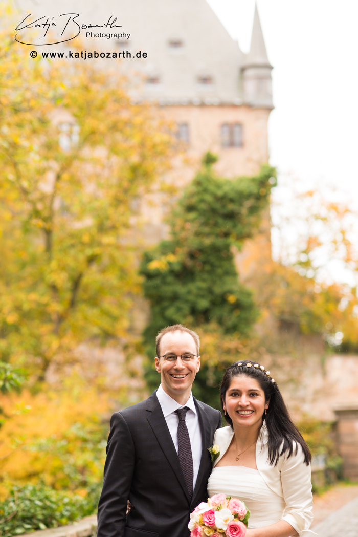 Marcela and Marc in front of the Castle